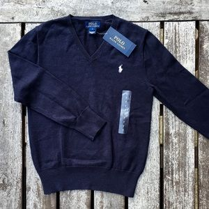 NWT 7 (fits like 5/6) POLO Ralph Lauren Sweater